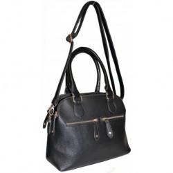 Černá kabelka s ozdobnými zipy