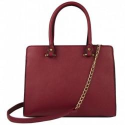 Vínově červená kabelka s odnímatelným páskem