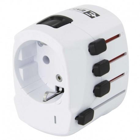 Cestovní adaptér EMOS P0056 bílý