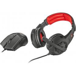 Herní set Trust GXT 784 2v1 (myš + sluchátka bez mikrofonu) - černá
