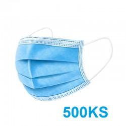 Ochranná 3-vrstvá rouška z netkané textilie - 500 ks