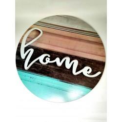 Nástěnná kruhová dekorace Home, o 48 cm